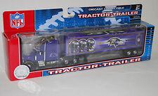NFL Football Semi Truck Tractor Trailer Hauler Collectible Baltimore Ravens