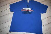 Florida GATORS Basketball BILLY DONOVAN Tee Shirt Top XL SGA Fantastic Crew EUC