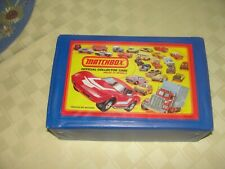 VINTAGE MATCHBOX CARRYING CASE WITH 24 VEHICLES