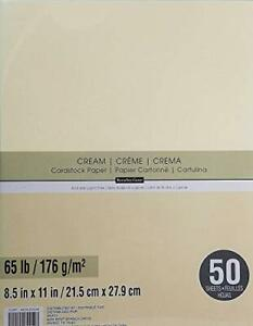 Recollections Cream Cardstock 65lb Cardstock Papercardstock Craft 50 Sheets