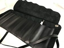 Straight razor 7-days travel leather case roll set lot
