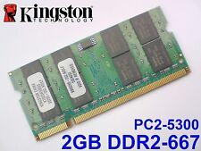 2GB DDR2-667 PC2-5300 200pin KINGSTON LAPTOP NOTEBOOK SODIMM RAM MEMORY SPEICHER