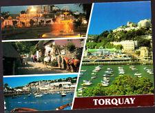 Vintage John Hinde Postcard Devon, Torquay Multiview, Stamped 1993