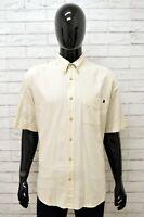 Camicia Uomo MARLBORO CLASSICS Taglia XXL Shirt Maglia Man Lino Beige Regular