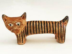 ITALIAN ITALICA ARS CERAMIC POTTERY TIGER CAT FIGURE ABSTRACT SCULPTURE MCM ERA