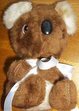 "Two Tone Brown Koala Teddy Bear Plush Heavy Weight Stuffed Animal 7.5""~Preloved"