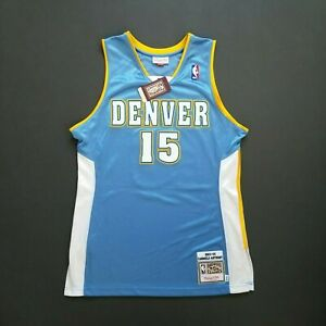 100% Authentic Carmelo Anthony Mitchell & Ness 03 04 Nuggets Jersey Size 52 2XL