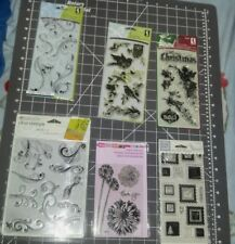 lot clear stamps Inkadinkado Christmas birds stampendous agapanthus rhonna swirl