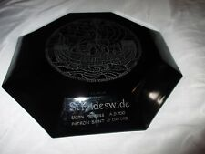 "Arcoroc France Black Octime St Frideswide Oxford Engraved 25cm 10""Dinner Plate"