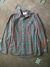 "TOPMAN checked shirt red and green uk S 36-38"" cotton used"