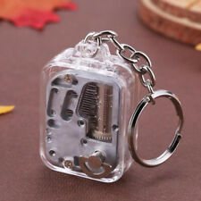 Music Box DIY Mechanical Metal Music Boxes Clockwork Keychain Gift ESDT0E