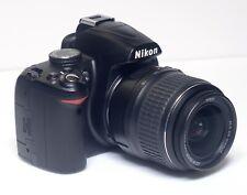 Nikon D3000 Digital Camera 10.2MP DSLR Nikkor DX 18-55mm f/3.5 Zoom AF Lens