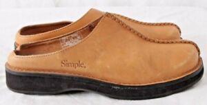 Simple 9578 Split Toe Shoes Walking Slides Slip On Stitched Mules Women's US 7