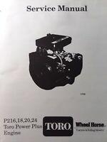 125V ONAN E124 E140V Service Shop Manual 965-0764