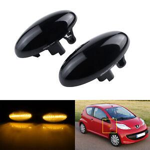 Noir LED Feux de Clignotant Répétiteur 6325G3 6325G4 Pour Peugeot 307 407 107 C1