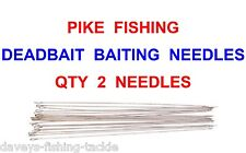 2 PIKE DEADBAIT NEEDLES FOR SEA COARSE FISHING SNAP TACKLE DEAD BAIT RIGS LURES