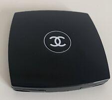 CHANEL CC Compact Black Vanity Makeup Handbag Mirror Double Facettes Duo Square