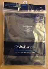 Croft & Barrow - Long-Sleeved Thermal Crew | Md (38-40) | Grey Camo | Pre-Shrunk