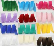 Top Quality Polyester Velvet Ribbon Trim & Velveteen Sppliers Many Colors/Sizes