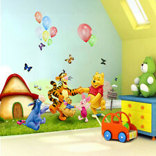 Happy Winnie the Pooh Meadow Removable Wall Sticker PVC Decals Kids Room Decor l