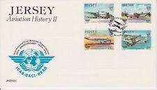 Unaddressed Jersey FDC First Day Cover 1984 Aviation History II 10% off 5