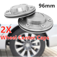 Wheel 96MM Rim Hub Center Caps Silver 2PCS for Car SUV Truck ATV