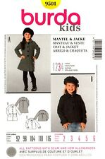 Burda Sewing Pattern 9501 Burda Kids Coat and Jacket