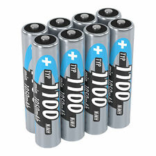 ANSMANN Akku AAA Micro Typ 1100mAh 1,2V - Wiederaufladbare Batterien (8 Stück)