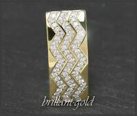 Diamant Brillant Anhänger mit 0,65ct, 585 Gold, Gelbgold & Weißgold Gleiter