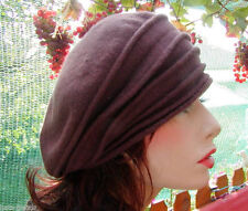 Damen Mütze Baskenmütze Fuggermütze Dunkelbraun Wollmütze Trend Winter Herbst