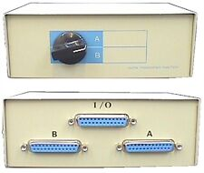 Serial / Parallel Switch Box, 1 to 2 or 2 to 1, DB25 25-way D-type Female Socket