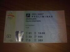 Billete Juegos Olímpicos Barcelona 1992-Balonmano 01.08.92
