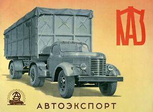 Truck KAZ Autoexport USSR Brochure 1956