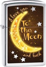 Zippo Windproof Lighter with Moon and I Love You, 29059, New In Box