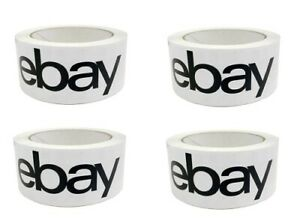Black & White Bay Branded 2'' x 75 Yards Packaging Shipping Tape 4 Rolls