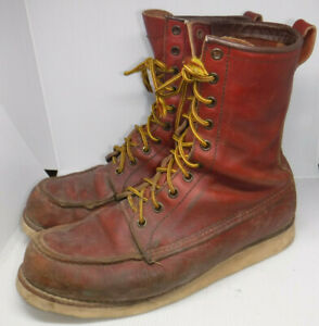 VINTAGE RED WING IRISH SETTER SPORT BOOTS MEN'S SIZE 10 MADE IN USA L@@K