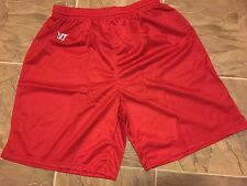 Men's Boys Adult XL Authentic Warrior Red lacrosse soccer football shorts NEW