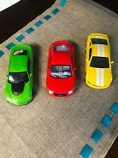 Lot Of 3 Model Diecast 1:38 Cars Mustang Audi Camaro Used