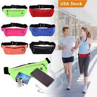 Sports Fanny Pack Bum Bag Waist Belt Travel Hiking Running Fitness Zipper Pouch