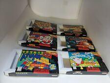 "6 Original Super Nintendo SNES "" For Display Only "" Boxes + Cardboard insertsC19"