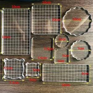 Handmade DIY Scrapbook Clear Acrylic Crystal Stamp Handle Background Embossing