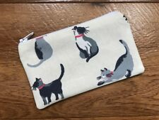 HANDMADE ZIPPED COIN PURSE MADE USING CATH KIDSTON SMALL PAINTED CATS FABRIC