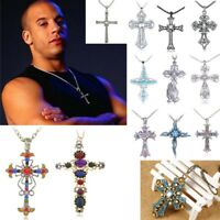 Fast And Furious Dominic Toretto Cross Pendant Necklace Chain Silver bronze New