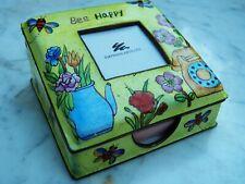 """Caja con bisagras chino esmalte """"Abeja feliz"""" emperatriz Artes Bumble Abejas Pintado A Mano"""