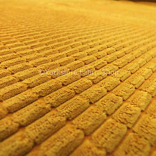 Soft Corduroy Brick Waffle Texture Upholstery Interior Craft New Orange Fabric