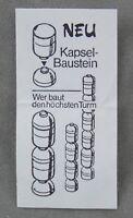 Überraschungsei Zettel von 1988 ca. 2,5 x 5 cm Wer baut den höchsten Turm BPZ