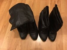 Women's Black Heel Boots 2 Pairs Size 10