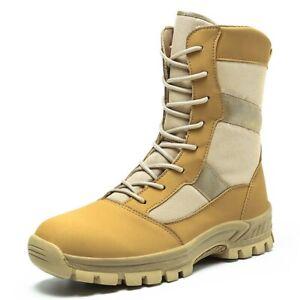 Botas Militares Tácticas De Cuero Para Hombre Zapatos Alto De Combate De Trabajo