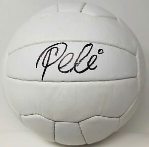 1958 WORLD CUP Pele Signed Leather Vintage Soccer Ball Autographed - PSA DNA ITP