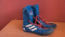 Mens blue Adidas Tygun boxing boots size 8 UK.